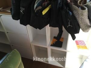 ロッカーは好きな場所を選び荷物や日誌を入れます。
